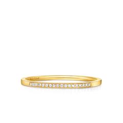 周大福SOINLOVE 经典系列 18K金镶钻石戒指