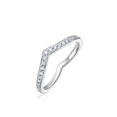 周大福 SOINLOVE甜心轨迹系列PT950铂金钻石戒指
