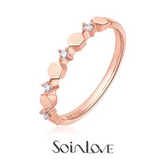 SOINLOVE爱蜜系列18K金镶钻戒指钻戒VU46小礼品