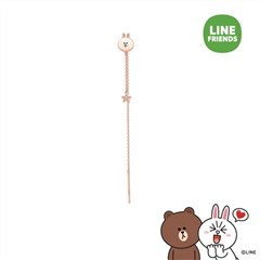 周大福SOINLOVE LINE FRIENDS 可妮兔18K金钻石耳环(单只)