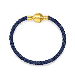 周大福 时尚钢扣手绳皮绳